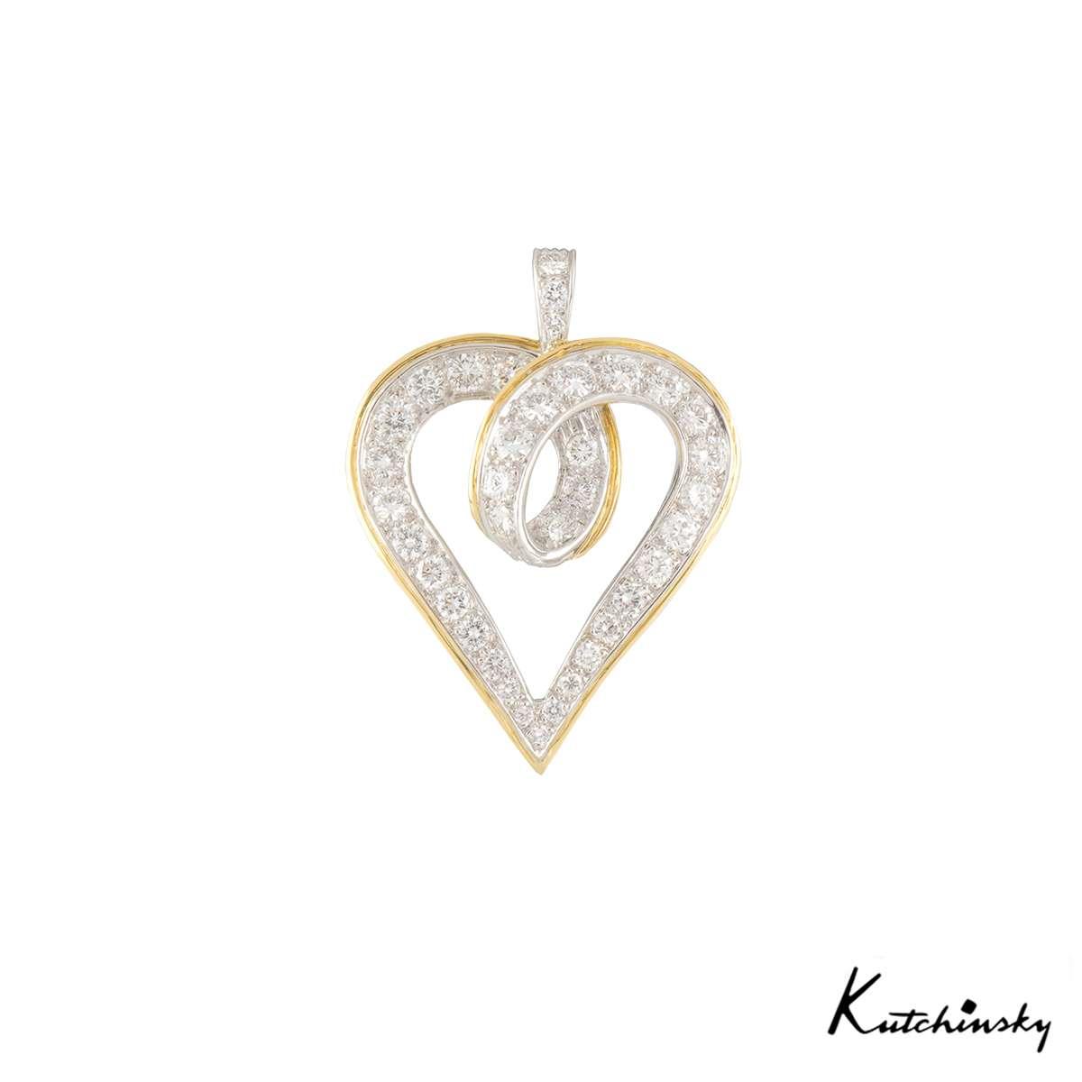 Kutchinsky Diamond Heart Pendant